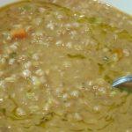 minestrone con lenticchie